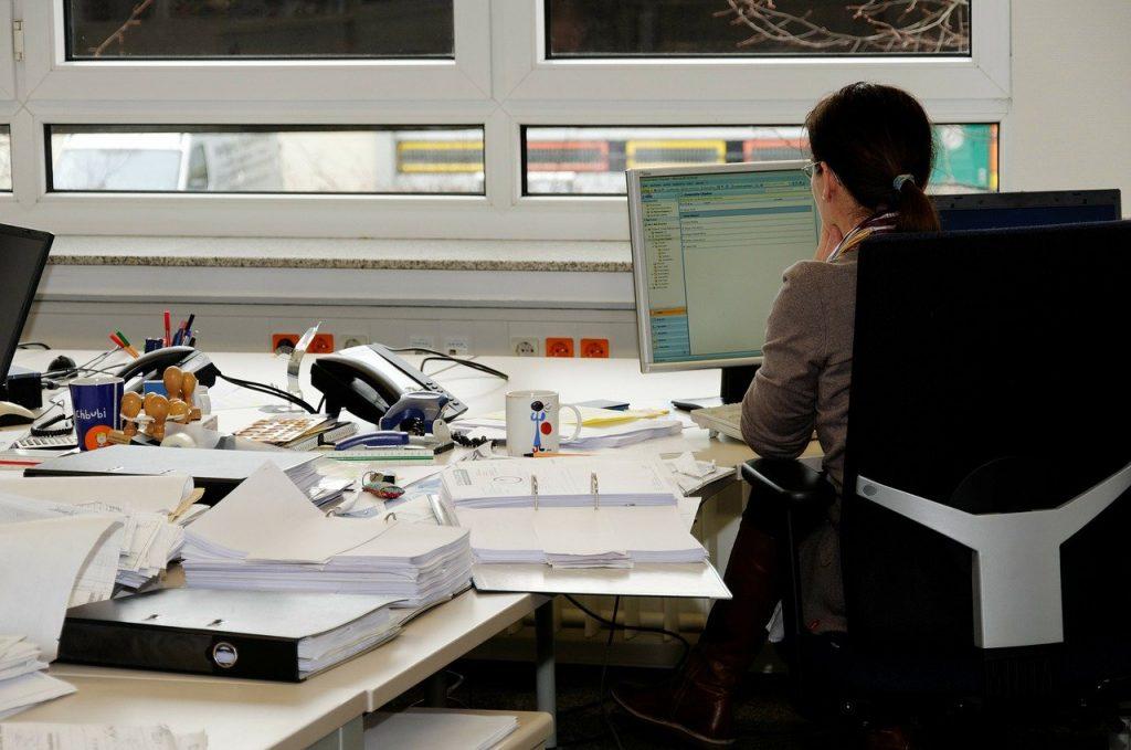 secrétaire, travail de bureau, bureau