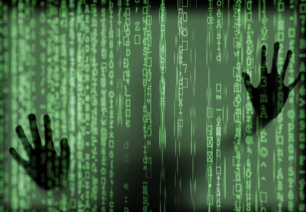 hacker, ordinateur, fantôme
