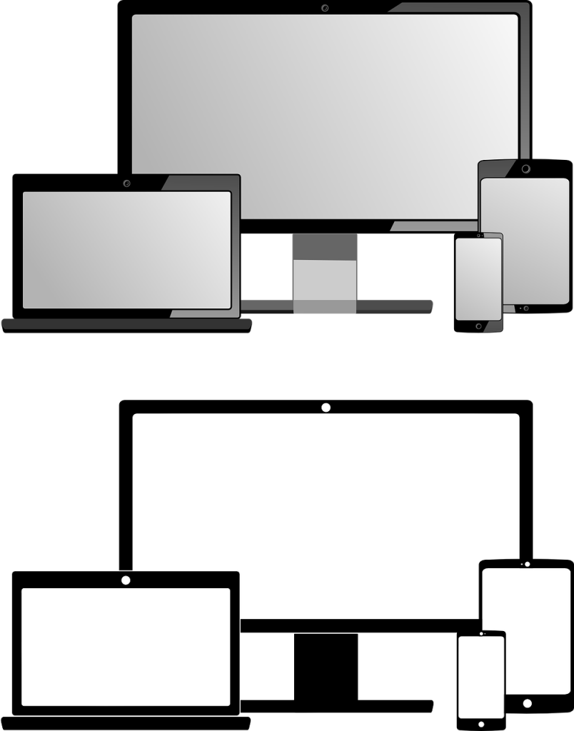 ordinateur, carnet, tablette